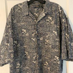 Vintage OP Sport Hawaiian Shirt Sz XXL
